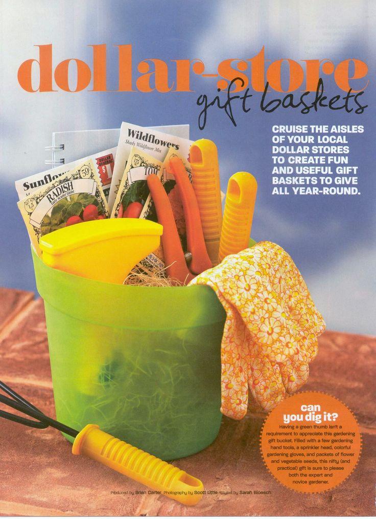 dollar store gardener gift basket bargain style winter 2005