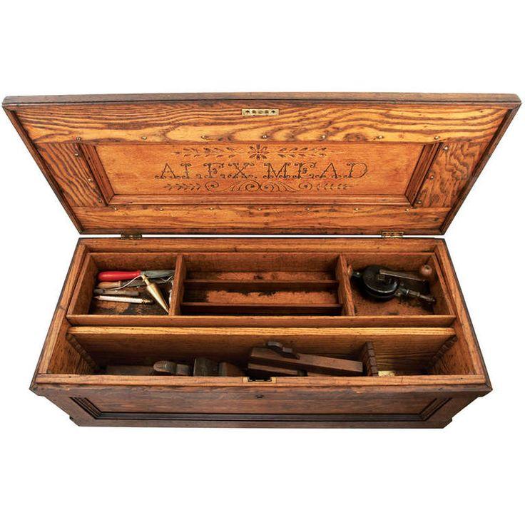1stdibs   Oak Carpenter's Tool Box