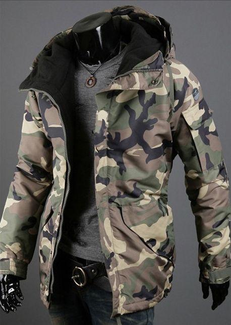 Men Military Camo Jacket 2 Colors