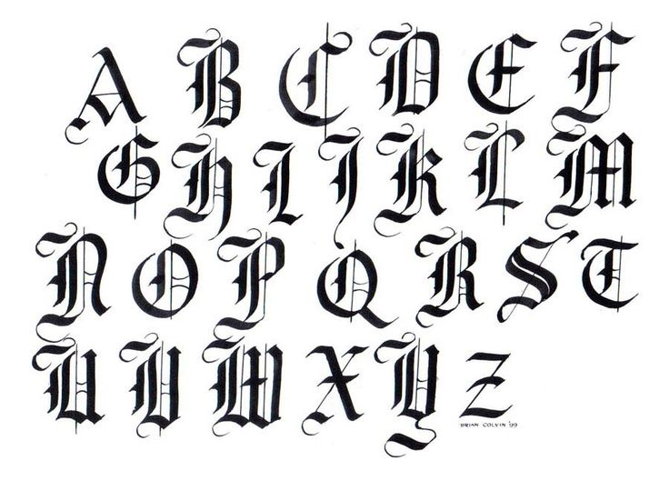 57 Best Images About Gothic Illuminated Letters On