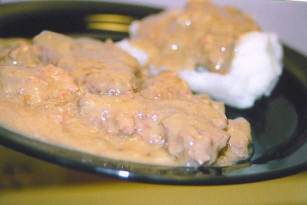 Comfort food. Oh yeah! I substituted the MSG laden onion soup mix with one Finley minced onion. Result = Delish!!! Crock Pot Melt-In-Your-Mouth Country Style Steak