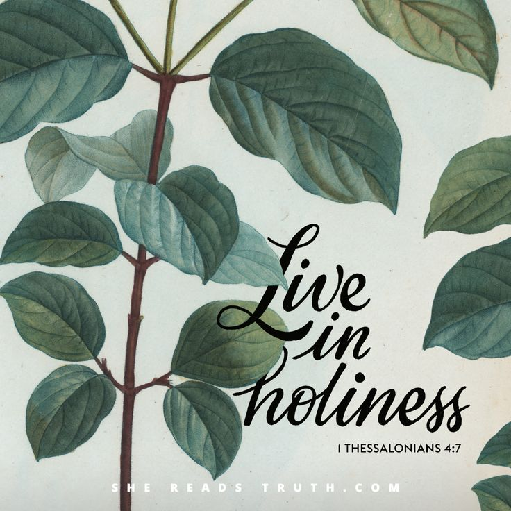 """Live in holiness"" - 1 Thessalonians 4:7 