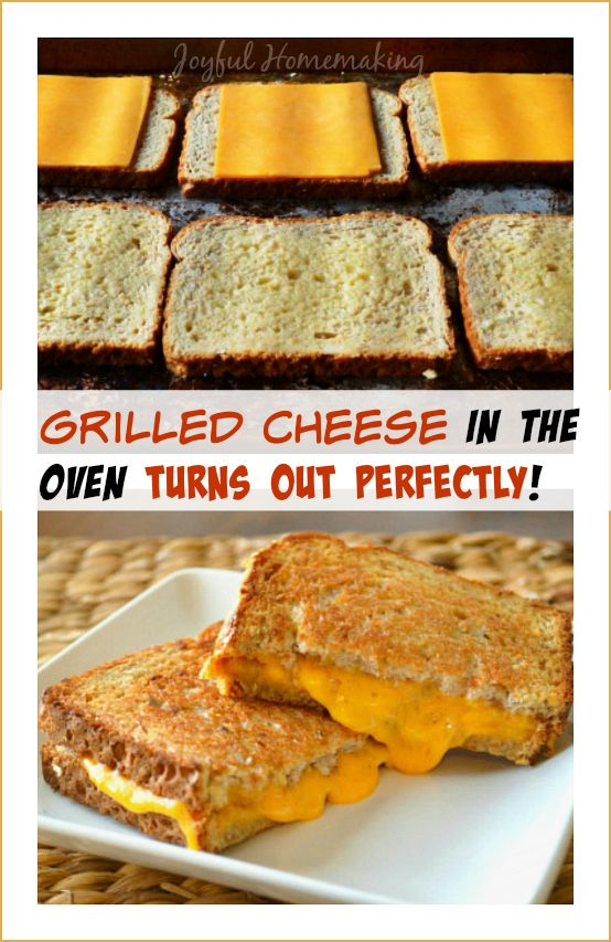 Grilled Cheese in the Oven - Joyful Homemaking