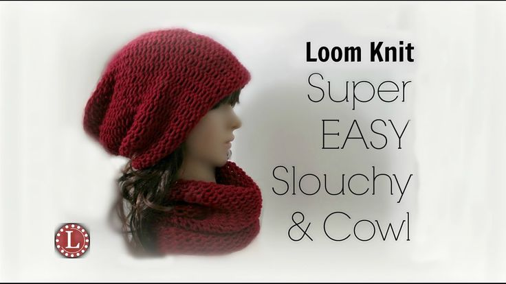 Cowl Knitting Pattern For Beginners : LOOM KNITTING Hat and Cowl Beginners Step by Step Loom Knitting Videos Pi...