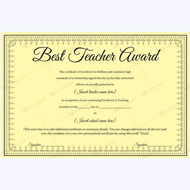 Best teacher award certificate template sample award bestteacher best teacher award certificate template sample award bestteacher teacher bestaward awardcertificate best teacher award certificate templates yelopaper Images