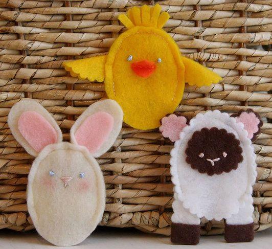 Finger puppet tutorialCrafts Ideas, Fingerpuppets, Easter Felt, Easter Crafts, Easter Fingers, Felt Finger Puppets, Fingers Puppets, Felt Animal, Easter Ideas