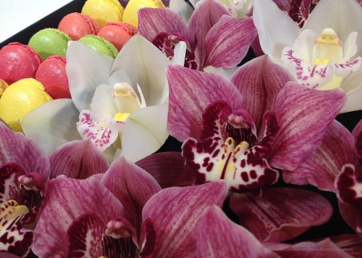 Орхидеи и макаруны.
