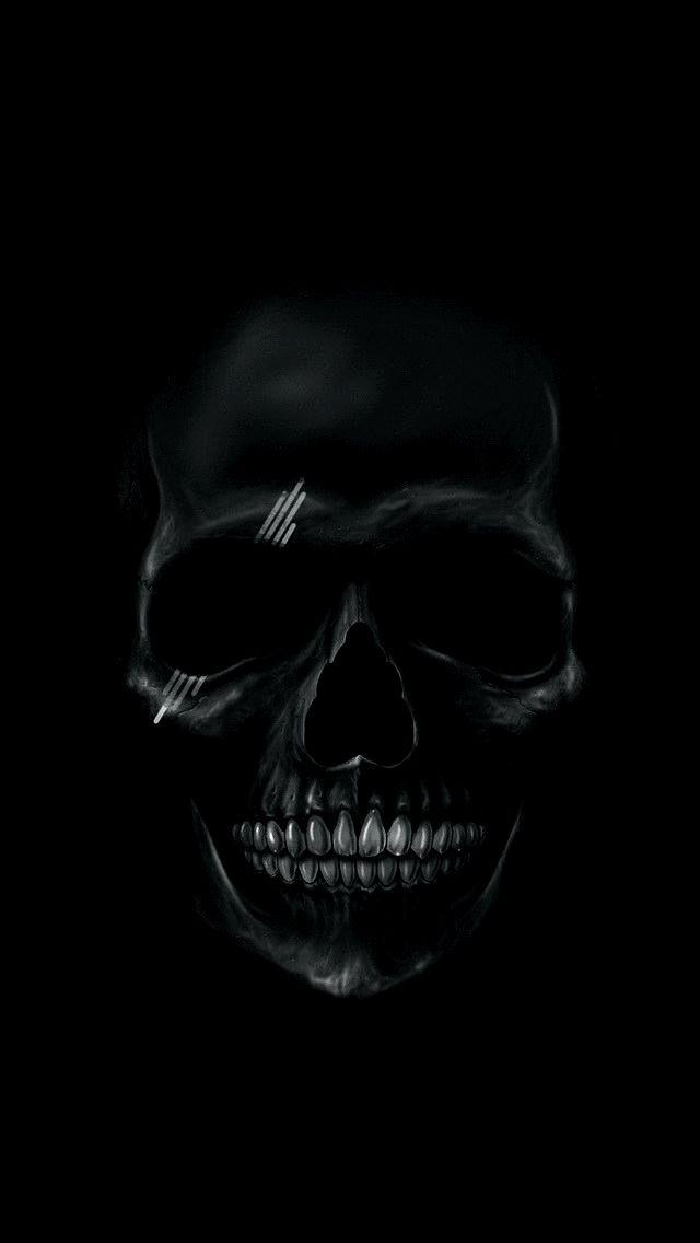 Black Wallpaper 4k Hd Download Trick Seni Tengkorak Tipografi 3d Seni Gelap