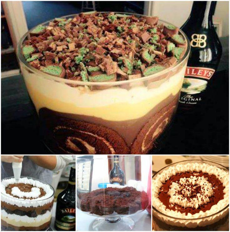 Baileys Irish Cream Trifle NO BAKE