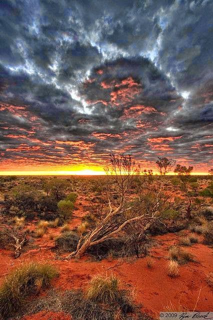 Google+ - Australia is a country of strong natural colors and contrasts. This photo was taken near Uluru near the center of the country by Ryane Bro0k