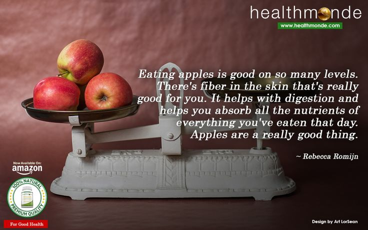 https://www.healthmonde.com/  Eating apples is good on so many levels. There's fiber in the skin that's really good for you. It helps with..     AMAZON : https://www.healthmonde.com/