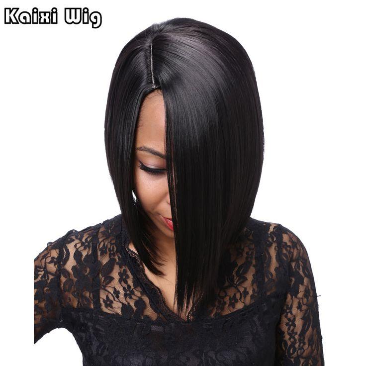 Короткий Черный Парик Боб Прически Короткие Парики Для Чернокожих Женщин дешевые Волос Парики Короткие Черные Синтетический Парик Косплей Жаропрочных волос