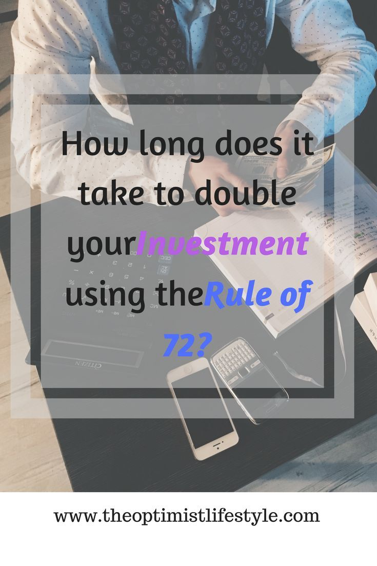 How to double your investment using the Rule of 72 – this is a very simple method to determine how long your initial investment would take to double given a specific rate of return.  #investing #personalfinance