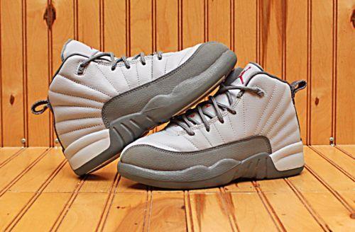 2016 Nike Air Jordan XII 12 Retro Size 1Y - Grey Pink Cool Grey - 510816 029