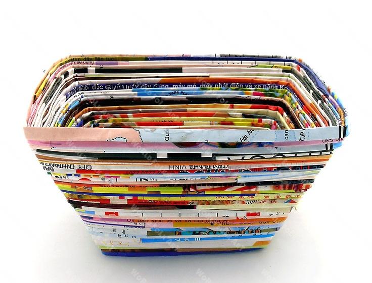 Square magazine bowl