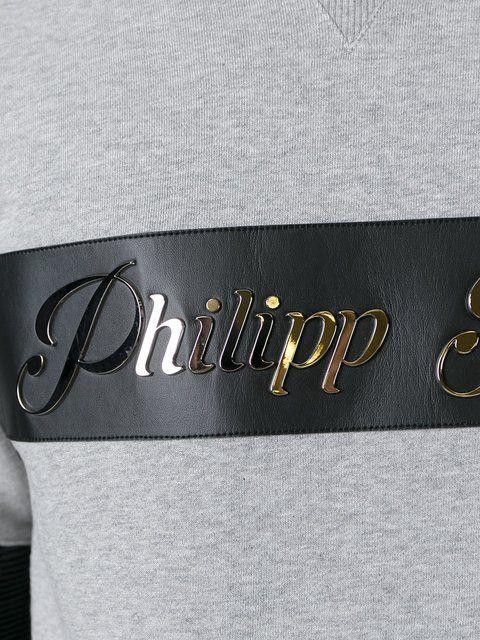 Compre Philipp Plein Moletom com contraste.
