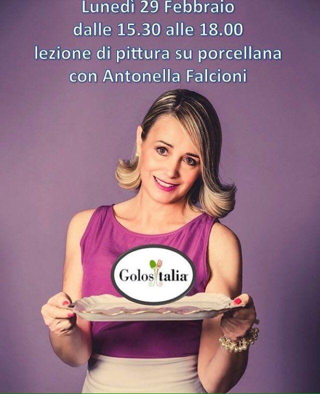 """Antonella Falcioni on Twitter: """"@Golositalia_ dipinto su porcellana area dim. Pad 7  Il 28 Febdalle 12.30 alle 14.30 e 1 Mardalle 13.30 alle 15.00 https://t.co/Wl747rKEbr"""""""