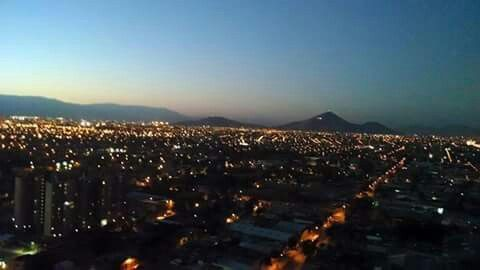 Atardecer en santiago, Región Metropolitana, Chile.
