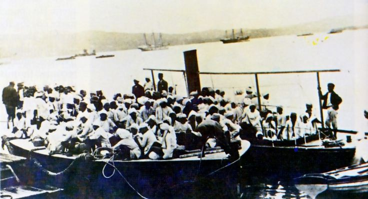"""Coolies"" coming ashore in Durban off the SS truro 1860"