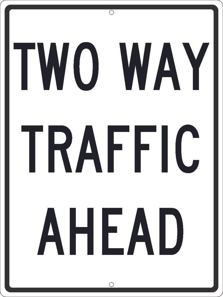 """Two Way Traffic Ahead, National Marker, TM517J, 24""""x18"""", Black And White, 85 Percent Recycled .080"""" Engineering Grade Reflective Aluminum Traffic Directional Sign With 2 Holes For Post Mounting - Each"""