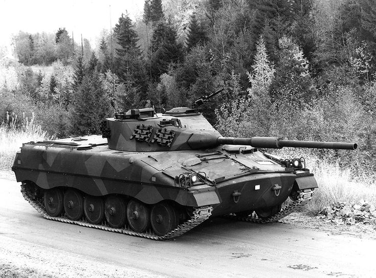 Swedish Army Infanterikanonvagn 91 (IKV 91). This was an amphibious 16.3 ton light tank armed with a 90 mm cannon, that entered service with the Swedish Army in 1975 as an infantry support tank.
