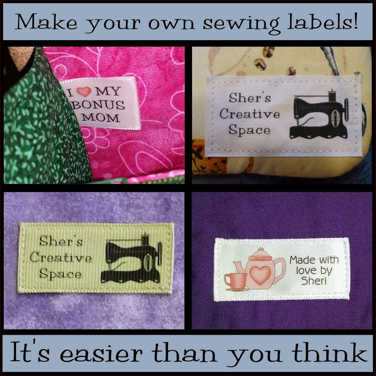 Yes you can make professional looking custom sewing labels  cheaply and easily. Read how.