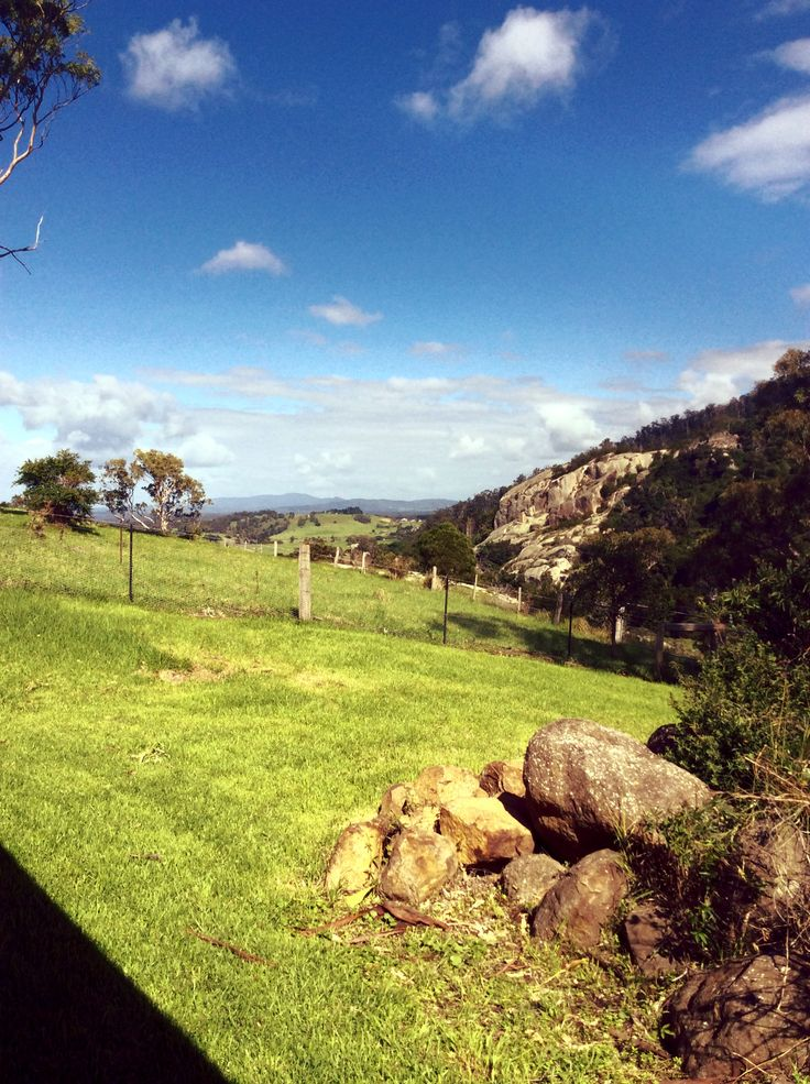 views south-east from The Cottage verandah