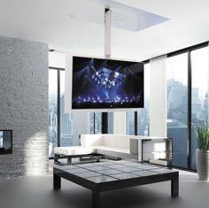 Soporte para TV con mando a distancia / motorizado para techo MaiorFlip 900 R…