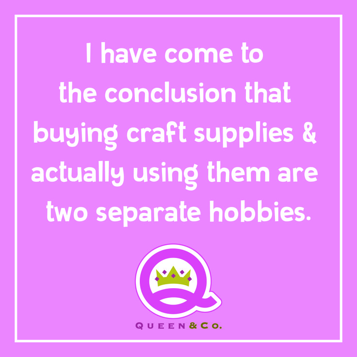 Image result for craft supplies shopping vrs using them two separate hobbies