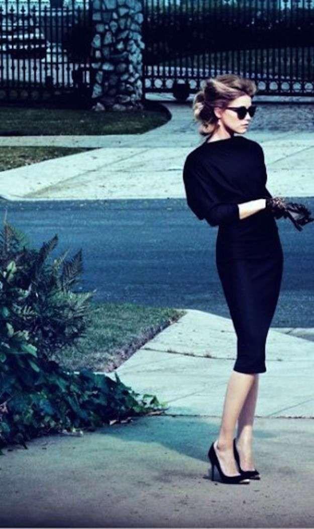 Vestido de tubo negro: fotos de los modelos (12/40) | Ellahoy