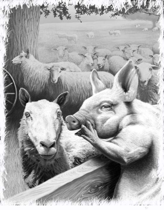 best animal farm images farms haciendas and the  squealer poster reminds me of the story animal farm black and white vintage barnyard animals print great art you can buy at zazzle