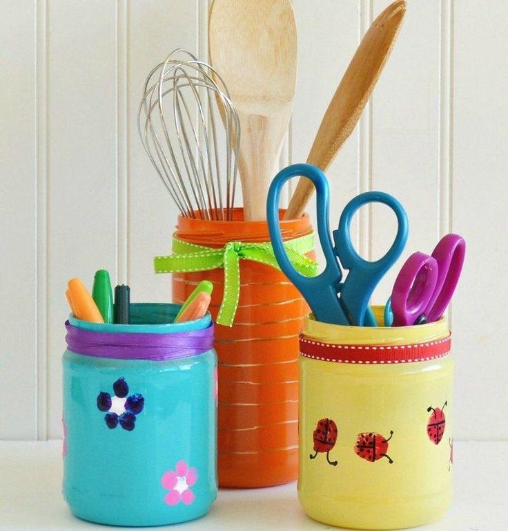 Zum Muttertag Einweckgläser als Behälter für die Küche bemalen