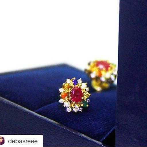 #Repost @debasreee with @repostapp ・・・ Crushing over this beautiful piece by @bluestone_com. Its part of their Navratnam Collection. Check out the link in the bio! #jewellery #india #ethnic #allsheneeds ✨