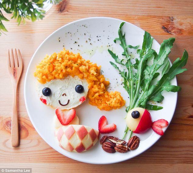 Samantha Lee's Lil Mermaid food art