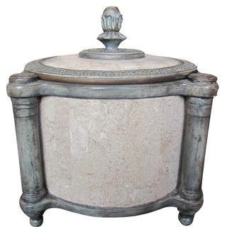 Maitland-Smith Marble Urn with Lid