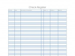 printable checkbook register
