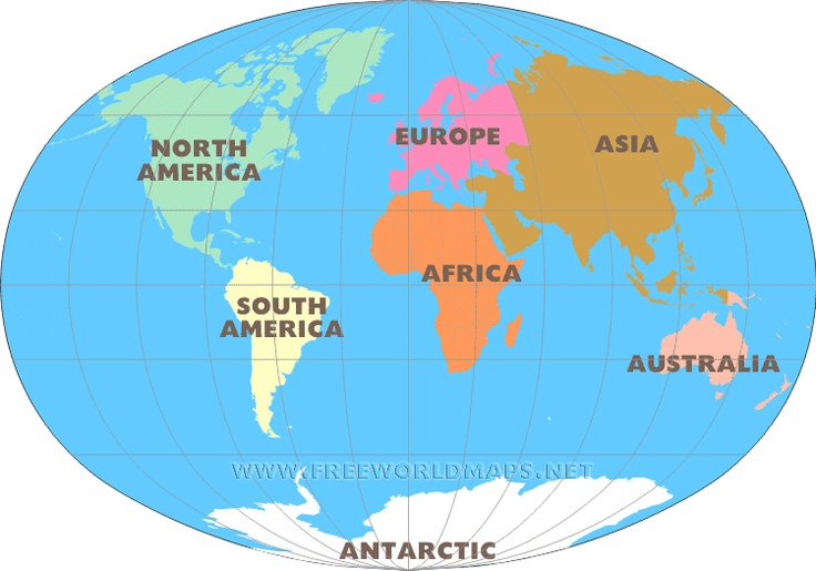 Map of the 7 continents Identify seven continents game