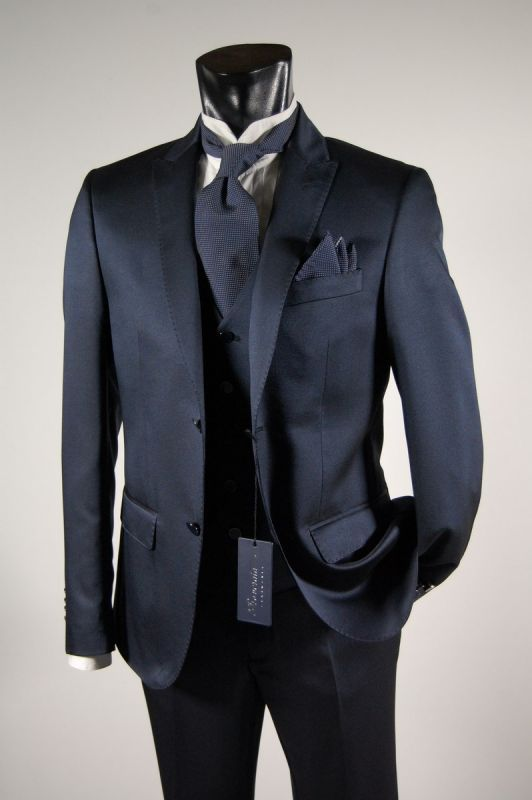 Navy blue dress complete with waistcoat roveraia