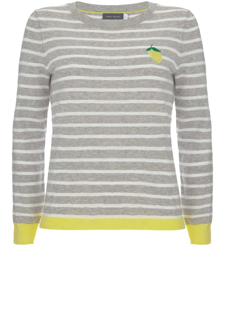 LEMON STRIPE MOTIF KNIT | Mint Velvet