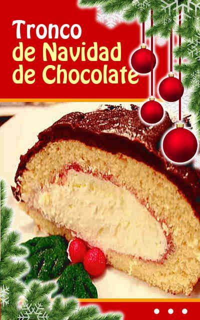 #Tronco de #Navidad de #Chocolate #recetas