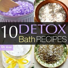 Top 10 Detox Bath Recipes. Toxins are poisonous substances that negatively affect our health. We expose ourselves to toxins on a daily basis, from sources like pollution, processed foods, and pesticides. And when we don't release these toxins, it's reflected in our health and the way we feel throughout the day. That's why I'm such a fan of detox baths.