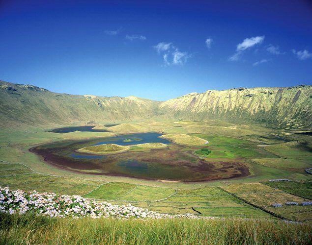 Lagoa do Caldeirão, ilha do Corvo