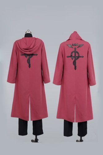 EMS fast free shipping Fullmetal Alchemist Edward Elric's cosplay costume party dress performance clothing for men CCF0101