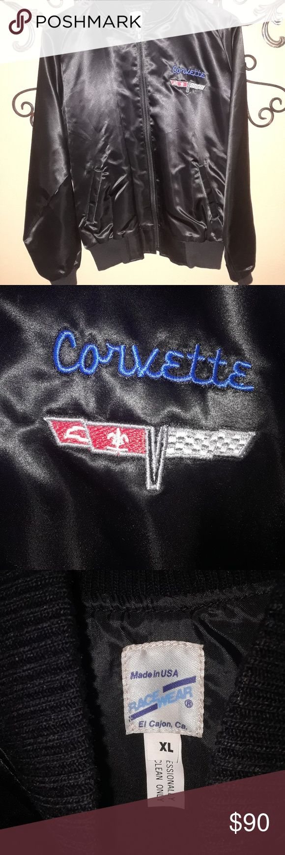 Vintage Mid America Corvette Supplies Satin Jacket Condition-Pre-Owned Worn once or twice! Any questions, feel free to ask! racewear Jackets & Coats Windbreakers