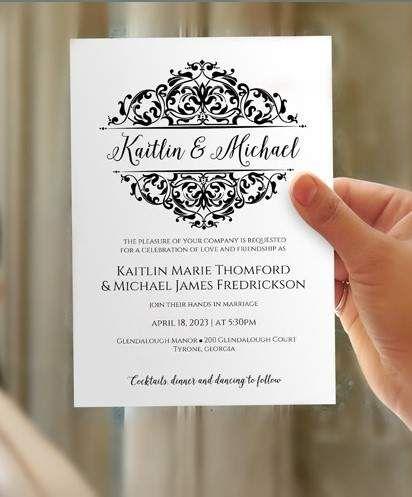 virtual wedding invitations free paperinvite