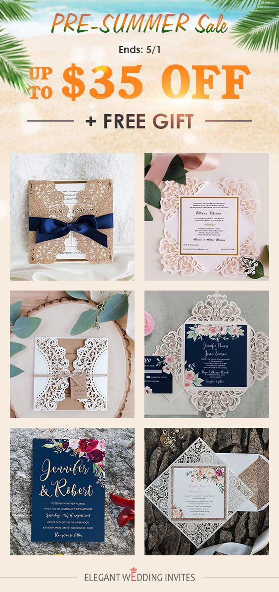 EWI wedding invitation pre summer sale DONT MISS