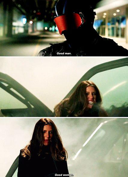 "#Arrow 5x15 ""Fighting Fire with Fire"" - ""Good woman"" - #DinahDrake #Vigilante"
