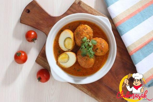 Resep Hidangan Lauk, Telur Bumbu Kari, Club Masak