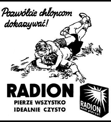 RADION sam pierze - reklama prasowa, 1935 rok