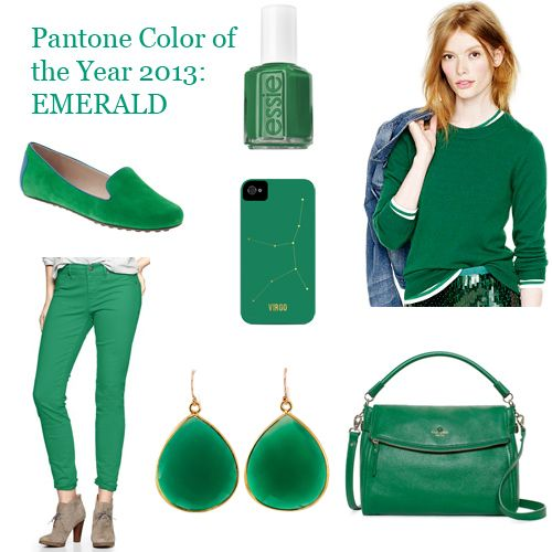 Here are our picks for Pantone's color of the year—Emerald.